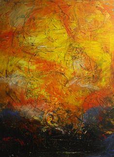 """Abstraktes Bild in Acryl """"Im Feuer tanzen"""" Painting, Abstract Pictures, Painting Abstract, Fire, Dance, Painting Art, Paintings, Painted Canvas, Drawings"""