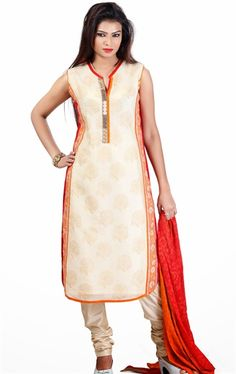 Adorable Off White Color Lovely Ready Made Salwar Kameez