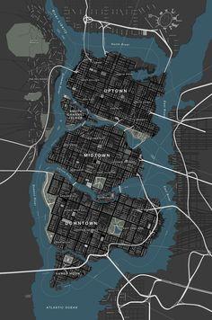 Map of Gotham City