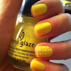 China Glaze - Yellow Polka Dot Bikini. A little streaky and chips pretty quickly -_-