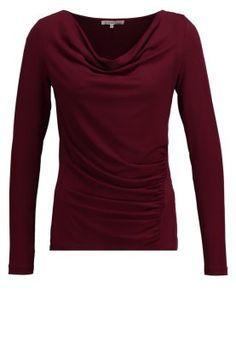 Topper langermet - burgundy