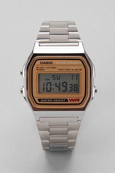 #Casio Chrome & Gold Digital Watch #classic Si quieren darme un regalo, ps si lo tenían pensado.. les dejo aquí la mejor opción!