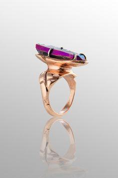 Statement jewelry by Andy Lifschutz: quartz ring