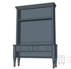 Ana White   Build a Media Hutch for the Turned Leg Media Console   Free and Easy DIY Project and Furniture Plans