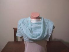 MotherS day / Blue Long Scarf / Shawl by YARNARTWORLD on Etsy, $35.00