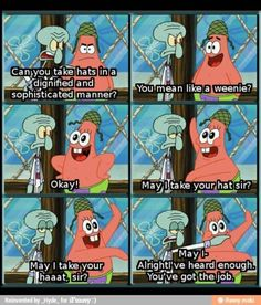 Oh Patrick...