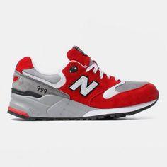 e3a4eeef997a NEW BALANCE ML999 SBG RED GREY New Balance Trainers