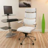 White Executive Office Chair perfect for a home office
