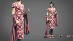 Marvelous designer-CLO3D - Salwar kameez Dress