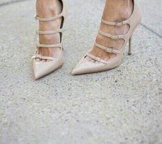 Shoes. Heels. Nude.