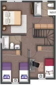 Resultado de imagen para planos de casas de 90m2 de 2 pisos