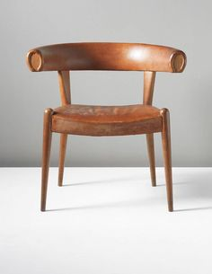 Hans Wegner, Prototype 'Roman' armchair, ca 1960. Wegner's chair [harks] back to the Roman period and . . . further to the Greek with the klismos chair.