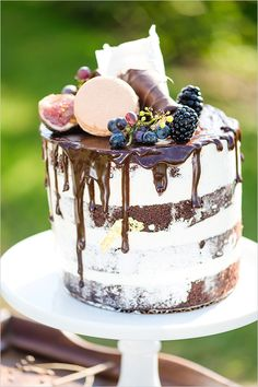 #chocolate naked #cake @weddingchicks