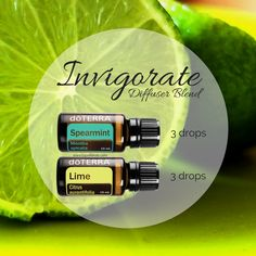 Invigorate your senses with this diffuser blend featuring doTERRA's Spearmint and Lime essential oils