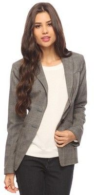 NWT Forever 21 Glenplaid Blazer Size M Retail Price $39.80 Start Bidding NOW @ $14.99 .. 1 Days Left
