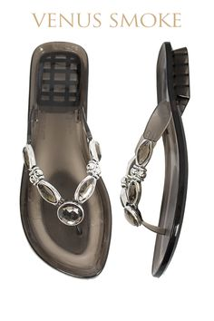 Venus Gel Pool Shoe - smoke  Available from www.piarossini.com  #PiaRossini #UltimatePoolShoe #Pool #Shoes #Sandal #Beach #Cruise #Comfort #Resort #Gel