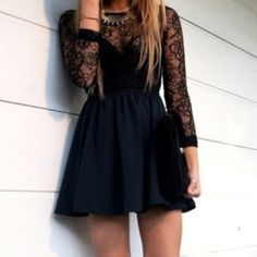 It is a shorts dress with a print of black flowers, black dress is also a cocktail style just for young
