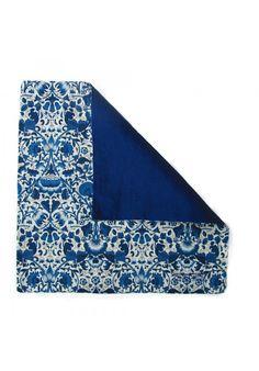 Delft Blue Floral Pocket Square £25
