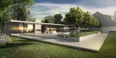 Tuin met zwembad en poolhouse Soesterberg