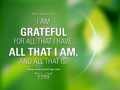 You need to be Grateful for all that you have and receive.