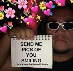 i wanna see them happy faces. memes edgy dank funny dankmemes edgymemes lmao xd shitpost originalcontent trending urmomgay undertale minecraft lol oof edits L dankedit memeedits edit smile wholesome pic heart Freaky Memes, Stupid Funny Memes, Funny Relatable Memes, Snapchat Stickers, Meme Stickers, 100 Memes, Flirty Memes, Heart Meme, Response Memes