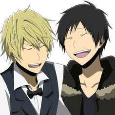 Their laughing at you hoping this could ever happen! Izaya Orihara, Durarara, Shizaya, Collages, Celty Sturluson, Bad Romance, Japanese Anime Series, Story Arc, Animation Series