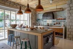 projevve mimarlık - alaçatı taş ev - mutfak