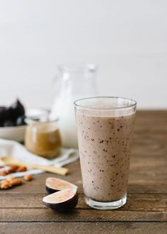 Fig and Almond Butter Smoothie   http://www.kitchenconfidante.com