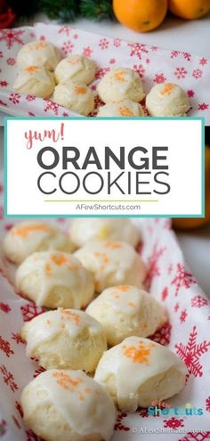 A deliciously refreshing Christmas Cookie recipe. Really these could be made all year long! Try these delicious Orange Cookies this holiday season! Italian Cookie Recipes, Holiday Cookie Recipes, Italian Cookies, Holiday Baking, Christmas Baking, Baking Recipes, Italian Christmas, Cookies Cupcake, Fruit Cookies