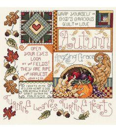 Janlynn Autumn Counted Cross Stitch Kit