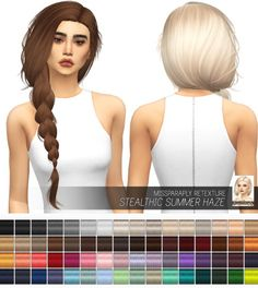 Miss Paraply: Stealthic Summer Haze: solids • Sims 4 Downloads