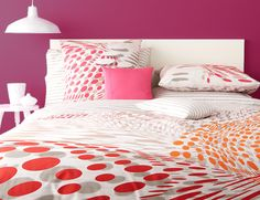 Sonia Rykiel Maison Songe colored bed linens and duvet cover