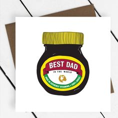 Marmite, Best Dad, Dads, Greeting Cards, Company Logo, Logos, Fathers, Father, Logo
