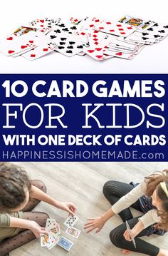 Family Card Games, Fun Card Games, Card Games For Kids, Playing Card Games, Kids Playing, Games To Play With Kids, Indoor Activities For Kids, Toddler Activities, Best Games For Kids