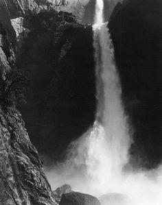 Ansel ADAMS :: Lower Yosemite Fall, Yosemite Valley (no date provided)