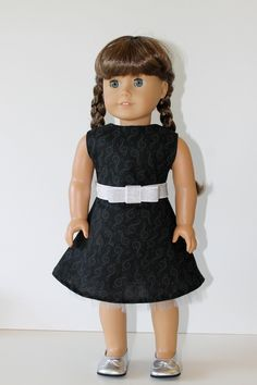 Recital Dress with Belt and Shoes for American Girl or Other 18 Inch Doll. $20.00, via Etsy.