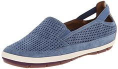 Rockport Cobb Hill Womens Tara CH Flat Blue 8 M US >>> Click on the affiliate link Amazon.com on image for additional details.