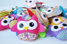 5 Eco Friendly Owl Ornaments  Baby Shower  Party by CarrotFever, $30.00