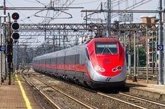 FS ETR 500 Frecciarossa at Stazione Milano Lambrate in Italy, 300 km/h