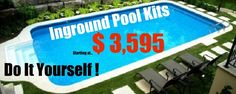 Outside Inground Pools- Pool Supplies Canada! Pool Spa, Diy Pool, Swimming Pools Backyard, Pool Decks, Swimming Pool Designs, Inground Pool Diy, Small Inground Pool Cost, Pool Liners Inground, Swimming Pool Kits