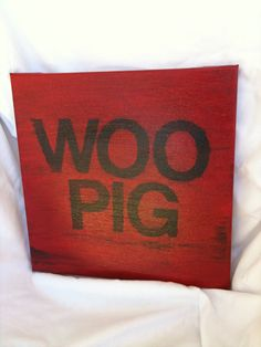 Woo Pig Sooie! @Rebecca Gaffigan we can SO do this!