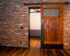 barn door in Lexington, KY urban loft