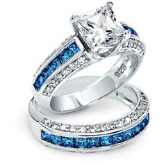 sapphire-princess-cut-ring-set_dt-lr0235-sp_1_1 Best Deal Bling Jewelry By My Side Set