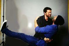 Misha Collins and Jared Padalecki.