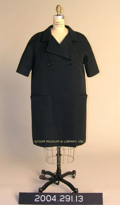 Coat, 1957, Cristobal Balenciaga. FIDM Museum