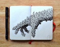 Sorprendentes Dibujos Hechos Sólo Con Tinta | Alternopolis