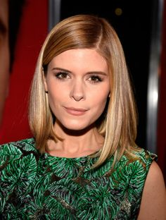 Kate Mara: Kate Mara shortened her hair and swapped out the red for a new blond look.