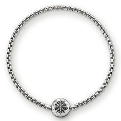 THOMAS SABO Karma Bead bracelet from the Sterling Silver Collection. bracelet with folding clasp - 925 Sterling silver, blackened Width: 0.3 cm