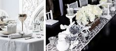 Silver and white on your Christmas table