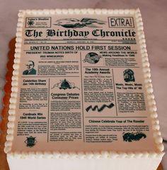 newspaper cake | Newspaper+theme+birthday+cake.JPG
